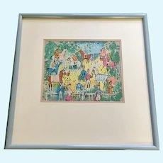 Charles Cobelle (1902-1998), Paris Equestrian Horse Race Limited Edition Lithograph Print