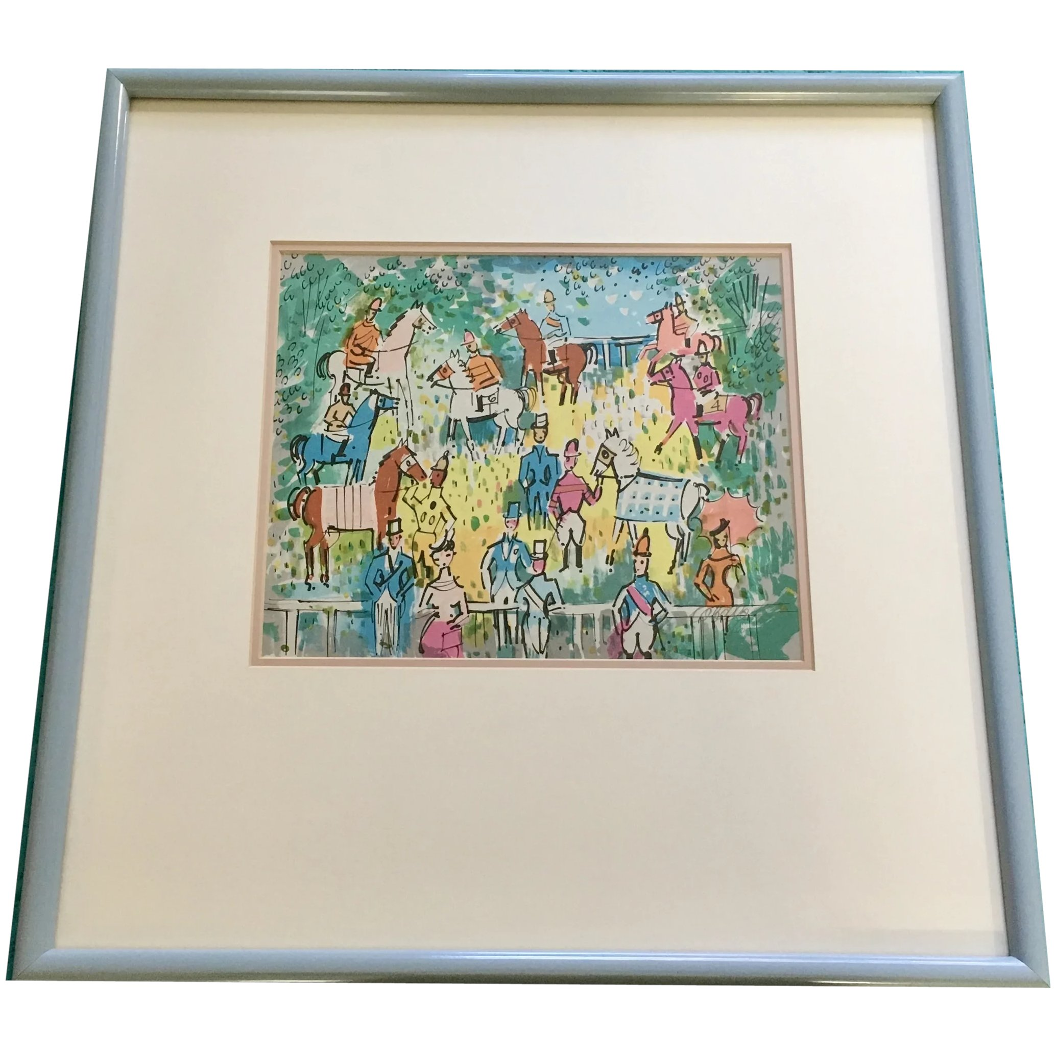 Horse wrider The paper size: 35 W x 23 H Never been framed. unframed Original Lithograph by Charles Cobelle borderless sheet