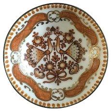 Arta Enamel Austria Hand Made Round Enamel Small Trinket Dish