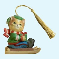 Bronson Collectibles Kitty Cat Christmas Ornament Joyful Jasper Figurine