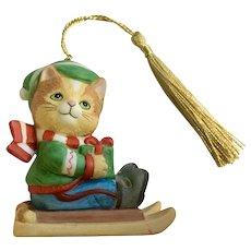 Bronson Collectibles Kitty Cat Christmas Ornament Joyful Jasper Figurine