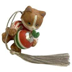 Bronson Collectibles Kitty Cat Christmas Ornament Joyful Jaimie Figurine