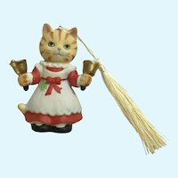 Bronson Collectibles Kitty Cat Christmas Ornament Bell Ringer Betsy Figurine