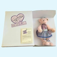 Teddy Bear Annette Funicello, 'Sophie' Pink Floral  Stuffed Plush Animal 561/5000 COA