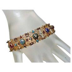 Antique French BRESSAN Enamel Bracelet