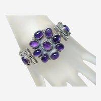 Vintage Amethyst Cluster Bracelet
