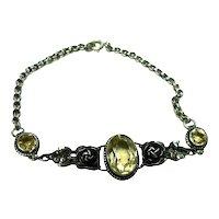 Beautiful Vintage Citrine Bracelet