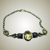 Beautiful Vintage Citrine Bracelet