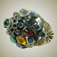 Vintage Princess 10kt Gold Multi Gemstone Ring