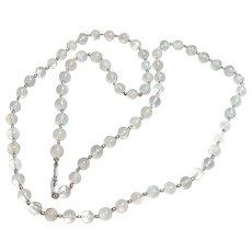 Beautiful Long Strand of Moonstone Beads