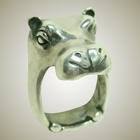 James Yesberger Hippo Sterling Ring