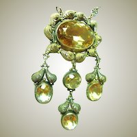 Antique Festoon Citrine Necklace