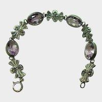 Italian Amethyst Sterling Bracelet