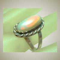 Handmade Vintage Silver Opal Ring