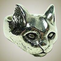 Beautiful Vintage Handmade Cat Ring
