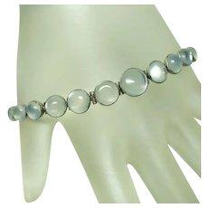 Fine Deco Continuous Moonstone Bracelet
