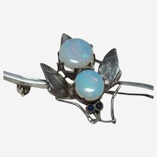 Edwardian Opal Insect Brooch