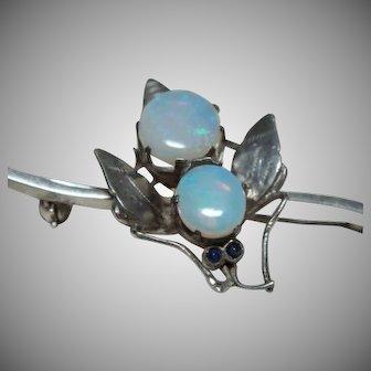 Edwardian Opal Insect Brooch