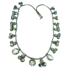 Antique Arts and Crafts Moonstone Necklace