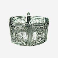 Fine Vintage Silver Panel Bracelet