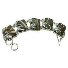 Gorgeous Large Banded Agate Bracelet