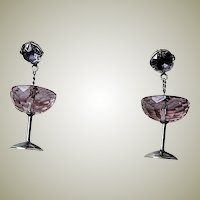 HAPPY NEW YEAR Deco Crystal Cocktail Earrings
