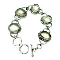 Vintage Large Rock Crystal Bracelet
