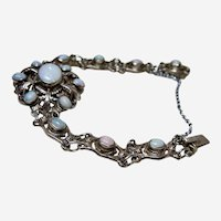 Antique Zoltan White Opal Bracelet