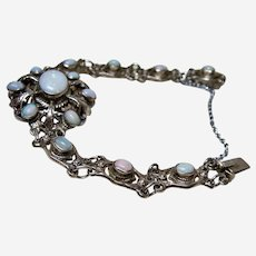 Antique Zoltan White Opal Bracelet