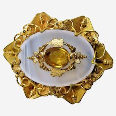 Victorian Chalcedony Brooch