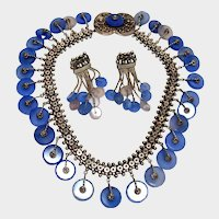 Superb Antique Chalcedony Necklace and Earrings Set