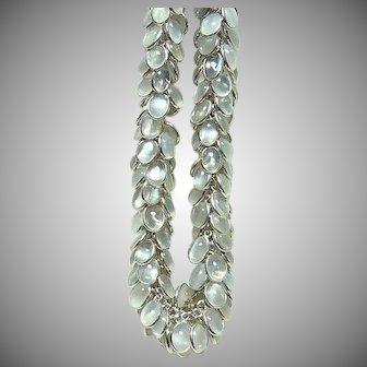 Vintage Lush Moonstone Fringe Necklace