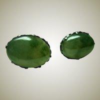 Large Vintage Jadeite Earrings