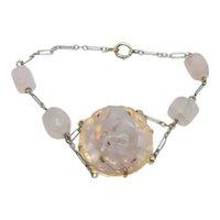Vintage Chinese Rose Jadeite Bracelet