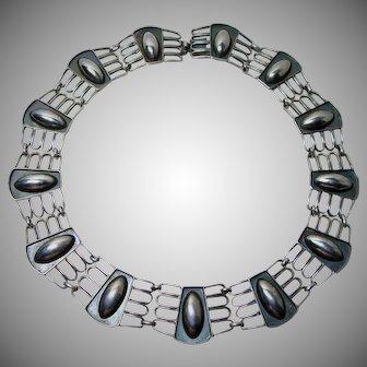 Gorgeous German 835 Silver Deco Collar Necklace