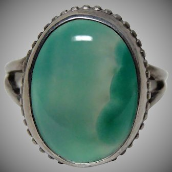 Arts and Crafts Antique Chalcedony Ring