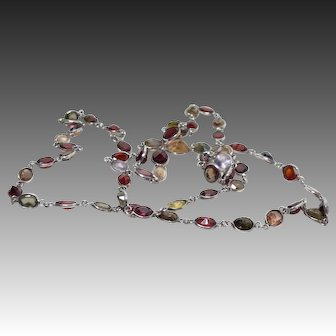 Vintage Continuous Strand Gemstone Necklace