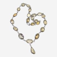 Vintage Continuous Strand Citrine Necklace