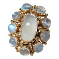 Vintage 14kt Gold Moonstone Ring