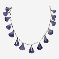 Hand Made Amethyst Arts and Crafts Necklace