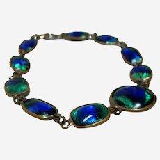 Vintage Peacock Eye Glass Bracelet