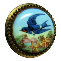 Vintage Blue Bird 10kt Gold Stick Pin