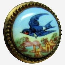 Vintage Blue Bird 10kt Gold Stick Pin