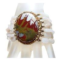 Large Vintage Agate Bracelet