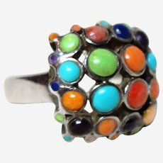Vintage Turquoise Multi-Stone Ring