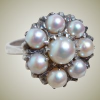 Vintage Multi Cultured Pearl Ring