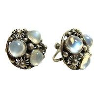 Beautiful Vintage Moonstone Earrings