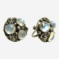 Beautiful Vintage Moonstone Earrings