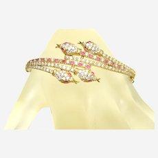 Gilded Silver Snake Bracelet