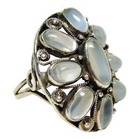 Large Arts and Crafts Period Moonstone Ring